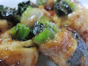 小松菜の豚肉巻き照り焼き