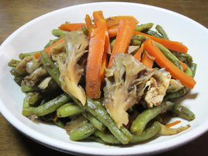 いんげん豆と舞茸の煮びたし